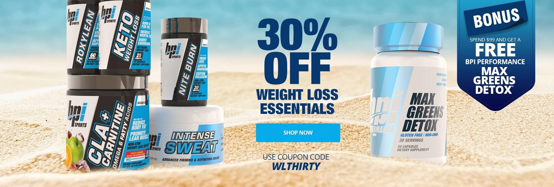 30 Off All Weight Loss Essentials Free Max Greens Detox 1920x650 HP DESK